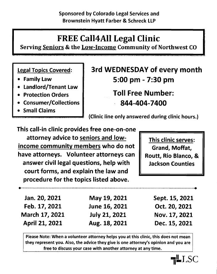 Free legal clinic 2021